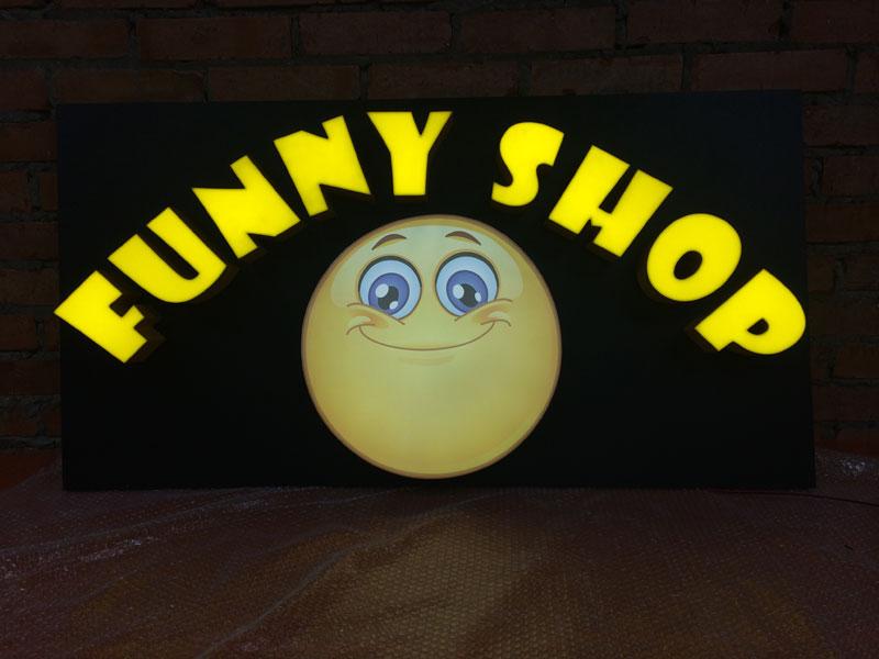Световые объемные буквы «Funny Shop»