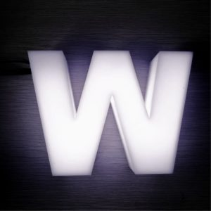 Световая объемная буква «W»