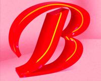 Буквы с открытым неоном