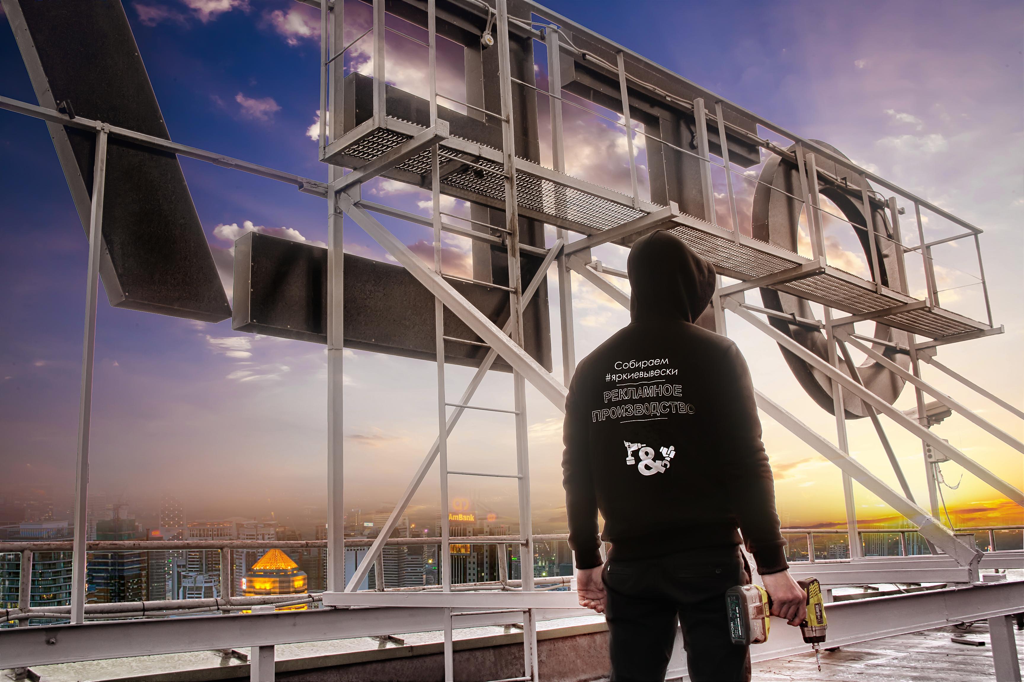 Конечный результат установки крышной конструкции 'Отель'